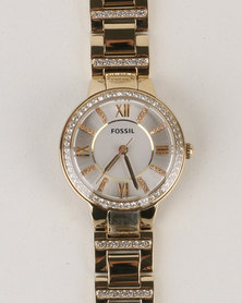 Fossil Virginia Stainless Steel Watch Gold-tone