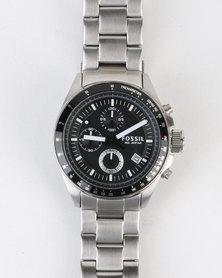 Fossil Decker Stainless Steel Watch Silver