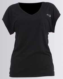 Fox Whirlwind Core V Neck T-Shirt Black