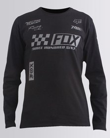 Fox Repaired Long Sleeve T-Shirt Black