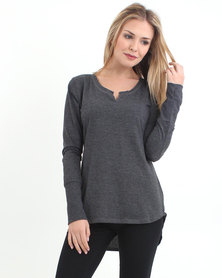 Fox Cited Long Sleeve Top Grey