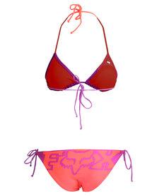 Fox Chroma Triangle Bikini Set Orange/Purple