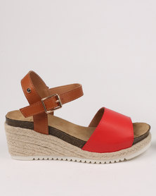 Franco Gemelli Kerensa Wedge Sandal Red