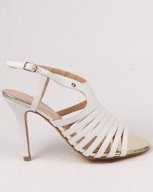 Franco Gemelli Juanita Heeled Sandal White