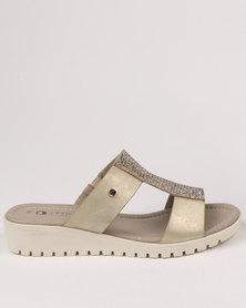 Franco Gemelli Tilly Wedge Sandal Gold