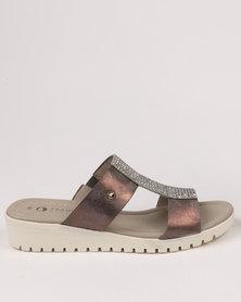 Franco Gemelli Tilly Wedge Sandal Pewter