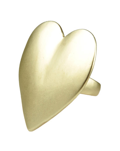Friis & Company Sweet Heart Ring Faux Gold
