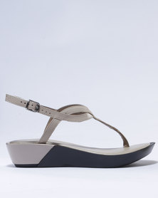 Froggie Rox Leather Wedge Sandals Ice