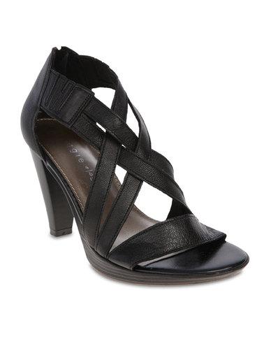 Froggie Heeled Sandals Black