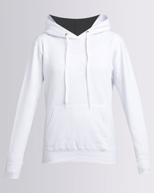 Fruit of the Loom Lady Fit Classic Hooded Sweat White