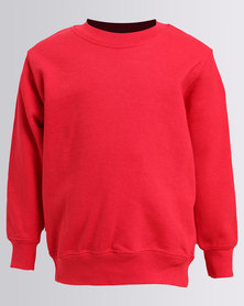 Fruit Of The Loom Kids Classic Set-In Sweat Top Red