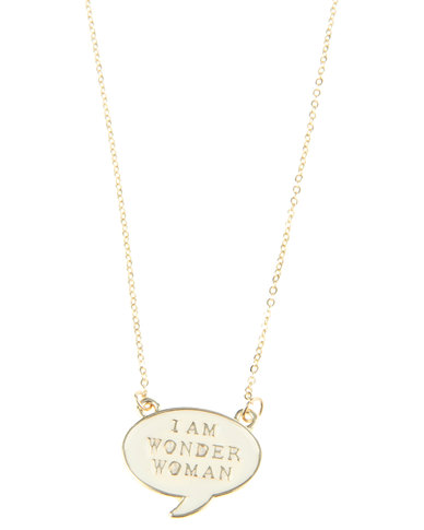 Funky Fish Wonder Woman Necklace Gold