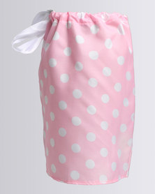 Funky Monkey Polka Dot Shift Dress Pink