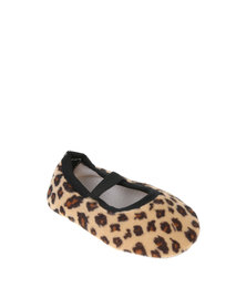 Funky Monkey Baby Girl Leopard Print Pumps Brown