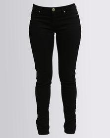 G Couture Denim Jeggings Black