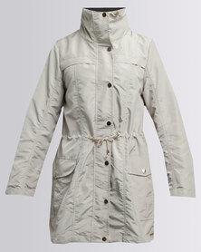 G Couture Longer Length Parka Jacket Stone