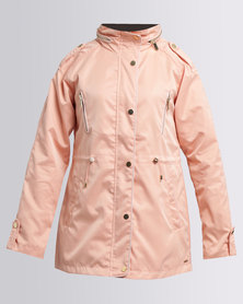 G Couture Parka Jacket Dusty Pink