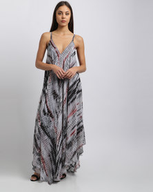 G Couture Chiffon Printed Hanky Dress Multi