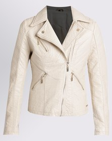 G Couture Biker Jacket Stone