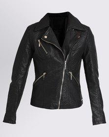 G Couture Biker Jacket Black