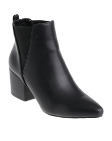 G Couture Pointy Gusset Boot Black
