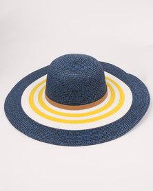 G Couture Summer Hat Denim Blue
