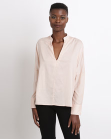 Game of Threads Kimono Sleeve Blouse Dusty Rose