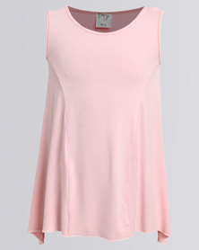 Game Of Threads Inverted Pleat Top Peach