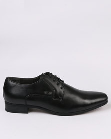 Gino Paoli Formal Lasered Lace Up Black