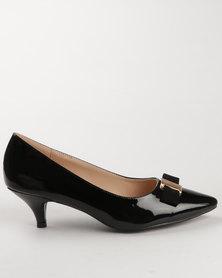 Gino Paoli Patent Court Heel Black