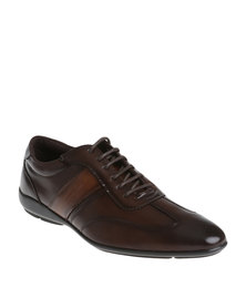 Gino Paoli Casual Contrast Lace Up Shoe Cognac/Tan