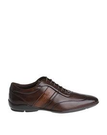 Gino Paoli Casual Contrast Lace Up Shoe Cognac/Tan
