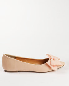 Gino Paoli Flats with Big Bow Beige