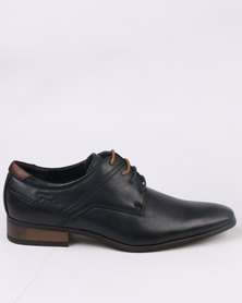 Gino Paoli Formal Contrast Lace Up Navy