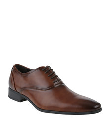 Gino Paoli Formal Oxford Lace Up Shoe Tan