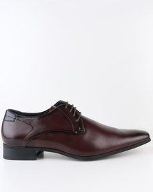 Gino Paoli Formal Derby Lace Up Shoe Burgundy
