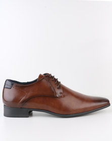 Gino Paoli Formal Derby Lace Up Shoe Tan