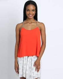 Goldie Swing Top with Chord Straps Orange