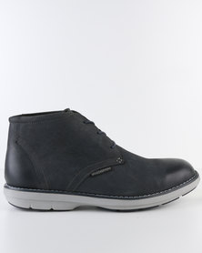 Grasshoppers Carson Leather Casual Lace Up Ankle Boot Navy