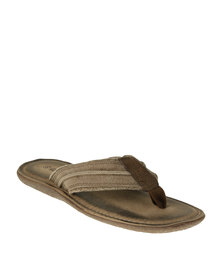 Grasshoppers Robin Canvas Casual Toe Thong Sandal Light Brown