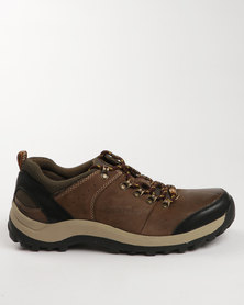 Grasshoppers Harvey Leather Casual Lace Up Shoe Coffee