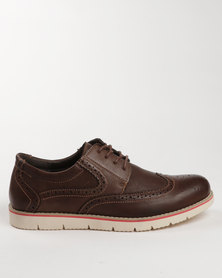 Grasshoppers Ashford Leather Casual Lace Up Sneaker Coffee