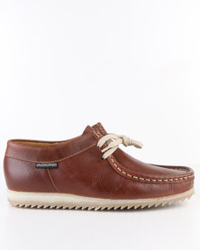 Grasshoppers Jayson Leather Casual Lace-Up Shoes Tan