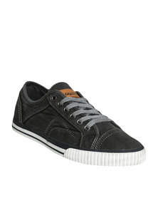 Grasshoppers S Pike Canvas Lace Up Sneaker Black