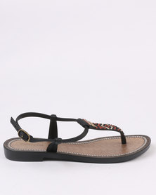 Grendha Ladies Casual Ankle Strap Black