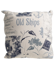 Grey Gardens Old Ships Scatter Cushion Multi
