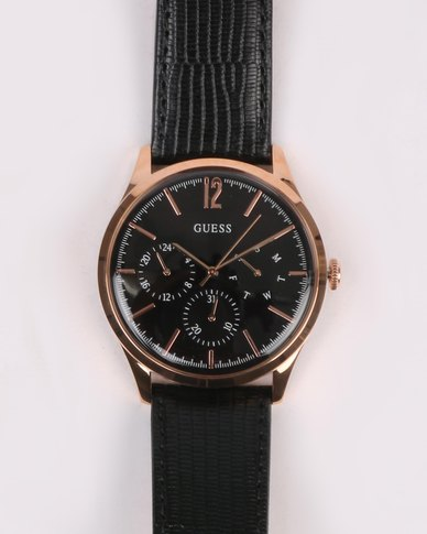 Guess Regent Strap Watch Rose Gold-tone/Black