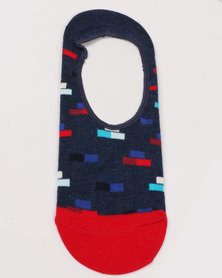 Happy Socks Bricks Liner Socks Blue