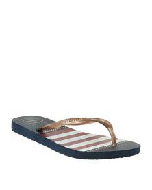 Havaianas Slim Nautical Flip Flop Navy Blue