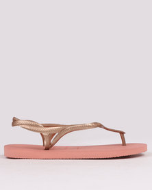 Havaianas Luna Flip Flops Light Rose